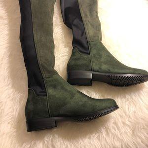62d05eb7d4ee8 shoe N Tale Shoes - Shoe N Tale Green Over knee stretch boot NIB